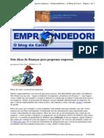 2009-09-09 - Sete Dicas de Finanças Para Pequenas Empresas