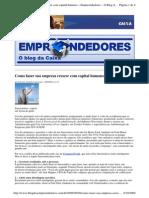 2009-09-20 - Como Fazer Sua Empresa Crescer Com Capital Humano