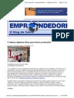 2009-10-02 - Conheça Algumas Dicas Para Fazer Promoções