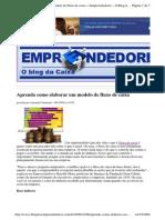 2009-10-06 - Aprenda Como Elaborar Um Modelo de Fluxo de Caixa