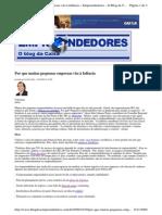 2009-10-30 - Por Que Muitas Pequenas Empresas Vão à Falência