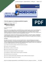 2009-10-31 - Crise Fez Empresas Reavaliarem Modelo de Negócio