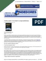 """2009-11-01 - Conheça Quatro """"Erros Fatais"""" No Empreendedorismo"""