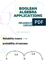 Boolean Algebra Applications (Reliability of Circuits)