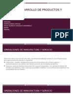 Diseño y Desarrollo de Productos y Operaciones