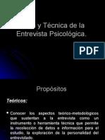 Teoría y Técnica de La Entrevista Psicológica TALLER