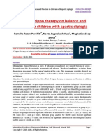 Effect of hippo therapy on balance and function in children with spastic diplegia