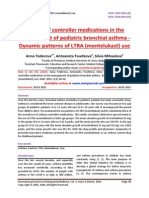 The use of controller medications in the management of pediatric bronchial asthma - Dynamic patterns of LTRA (montelukast) use