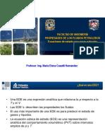 PROPIEDADES DE LOS FLUIDOS PETROLEROS Ecuaciones de estado para gases naturales