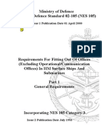NES 105 Part 1 Requirements for the Fitting Out of Offices (Excluding Operations_Communication Offices) in HM Surface Ships and Submarines