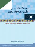 Sistema Exner Para Rorschach Manual Didactico Ok