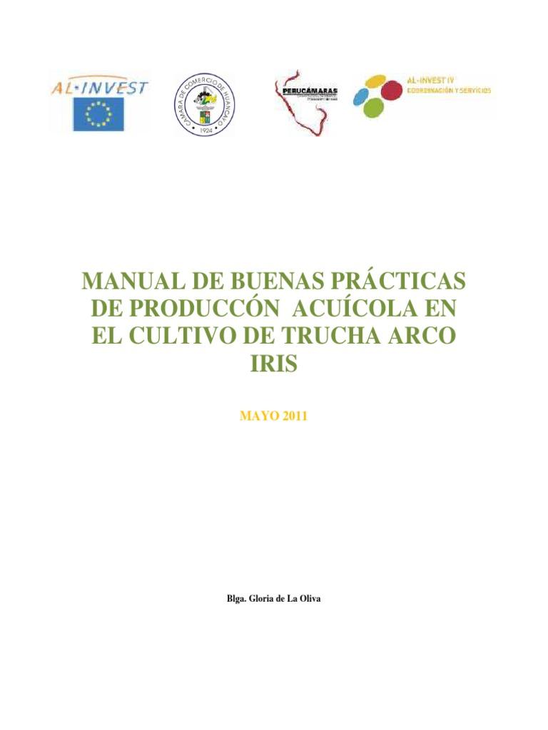 19. Manual Buenas Prácticas Acuícolas en El Cultivo de La Trucha ...