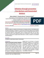 Oral rehabilitation through preventive approach