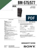 Diktafon Sony BM-575_577