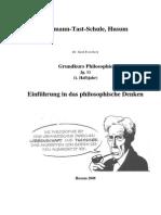 Einführung in Das Philosophische Denken