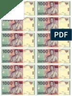 Rp 1000 Uang Kertas Mainan