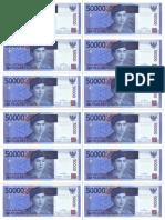 Rp 50000 Uang Kertas Mainan
