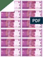Rp 10000 Uang Kertas Mainan