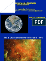 Clase 2 Origen Del Sistema Solar 2014-1
