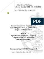 NES 106 Part 3 Requirements for Medical and Dental Organization in HM Surface Ships and Submarines