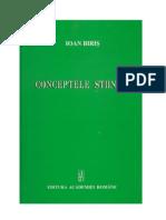 Conceptele stiintei - Ioan Biris