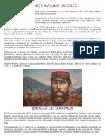 Andrés Avelino Cáceres - Batalla de Tarapaca