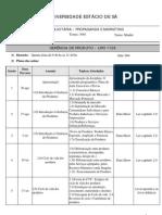 Plano Aula Gerência Produto- Prof. Rodolpho - Centro I - 2009-2