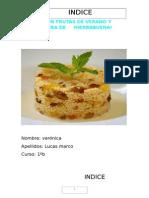 Cuscús Con Frutas de Verano y Salsa Ligera de Hierbabuena