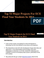 Top 53 Major Projects for ECE Final Year Students in 2014