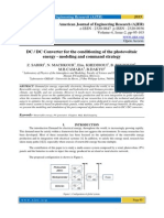 DC / DC Converter for the conditioning of the photovoltaic energy - modeling and command strategy