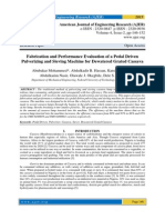 Fabrication and Performance Evaluation of a Pedal Driven Pulverizing and Sieving Machine for Dewatered Grated Cassava