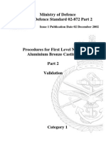 NES 872 Part 2 Procedures for First Level Nickel Aluminium Bronze Castings - Category 1
