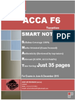 Smart Notes Acca f6 2015 (35 Pages)
