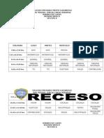 Horario de Clases 2015 Colegio
