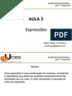 Estrutura de Dados - Aula 3 - Expressoes