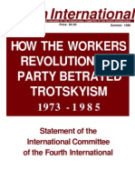 How the WRP Betrayed Trotskysm, 1973-1985