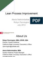 201207 CSU Lean Process Improvement Slides