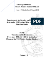 NES 339 Requirements for Steering and Stabilizer Systems for HM Surface Ships and Royal Fleet Auxiliaries - Category 1