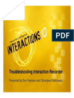 Troubleshooting Interaction Recorder
