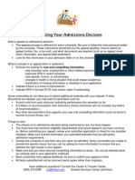 Appealing Your Admissions Decision_Rev Apr 2013