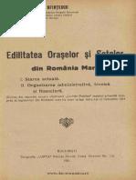 Edilitatea Oraselor Si Satelor Din Romania Mare