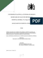 Análisis Comparativo de La Calidad de Vida Medida Por El SF-36 en Pacientes Con IRCT en Tratamiento Sustitutivo Con Hemodiálisis o Diálisis Peritoneal En