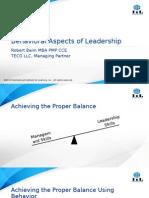 Baim Behavioral Aspects of Leadership