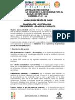 PPP Presentación Preparación Práctica Producción Unidad