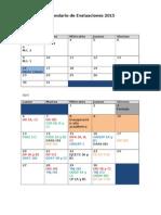 Calendario Evaluaciones 2015-1