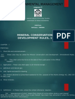 1. Mine Subsidence- Prediction and Reduction 2. Mineral Conservation and Development Rules, 1988 3. Mines and Minerals (Development and Regulation) Act, 1957