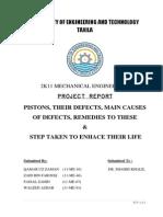 Piston Damage Report