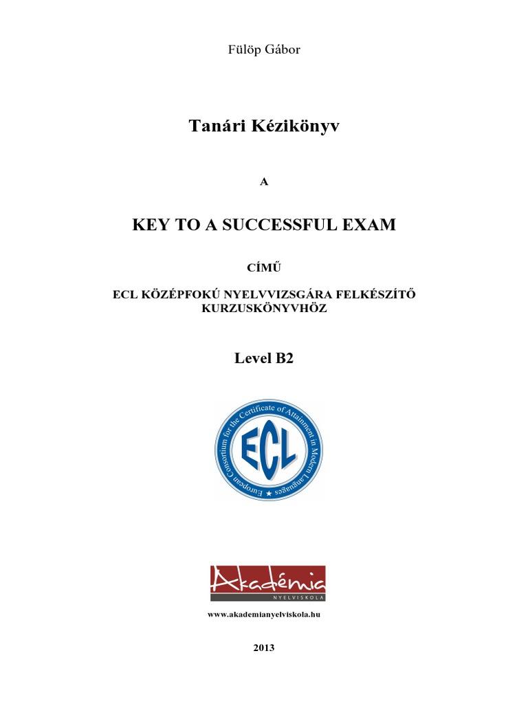 Tanári Kézikönyv - Key to a Successful Exam 95c1da2ae1