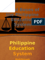 Legal Bases of the Philippine Education