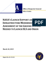 NASA launch support modernization to launch SLS and Orion